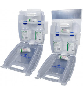HypaClens Oogspoelstation incl 2 x 0,9% Sod Chl 500ml -