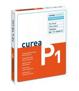 Curea P1 SuperCore wondverband 10 x 10 cm steriel 10St. -
