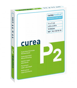 Curea P2 SuperCore wondverband 11 x 11 cm steriel 10St. -