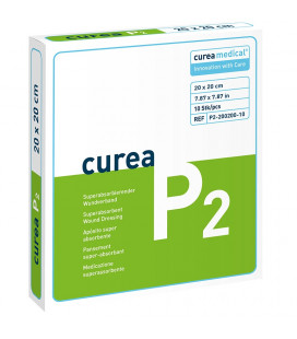 Curea P2 SuperCore wondverband 20 x 20 cm steriel 10St. -